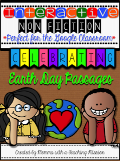https://www.teacherspayteachers.com/Product/Interactive-Earth-Day-Passages-for-the-Google-Drive-Classroom-2477357