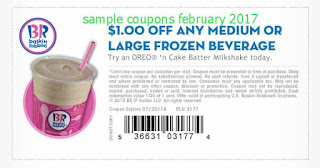free Baskin Robbins coupons february 2017