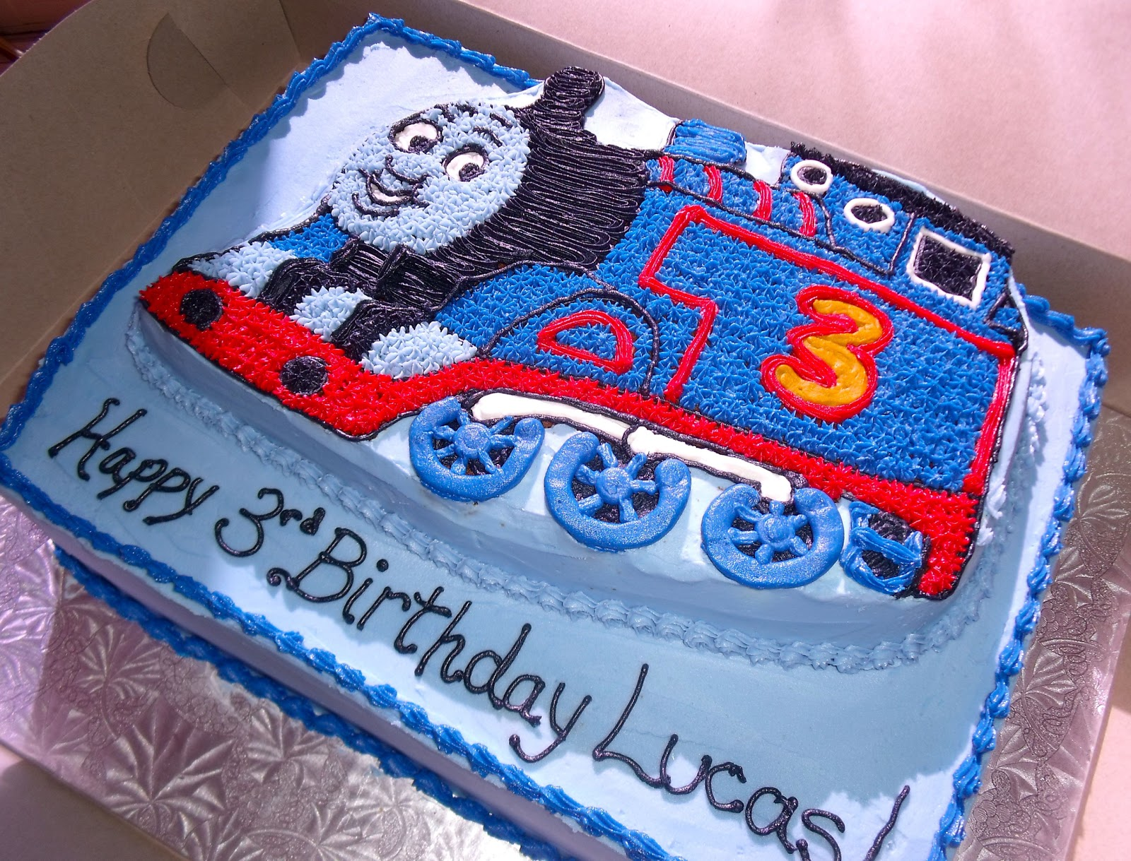 A Simple Thomas The Train Cake
