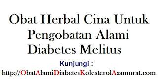 Obat Herbal Cina untuk Pengobatan alami Diabetes Melitus