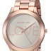 [SOLD OUT] $59.99 (Reg. $195) + Free Ship Michael Kors Women's Rose Gold-Tone Love Slim Runway Watch!