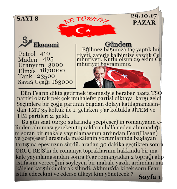 Rival Regions Türkiye 8. Sayısı
