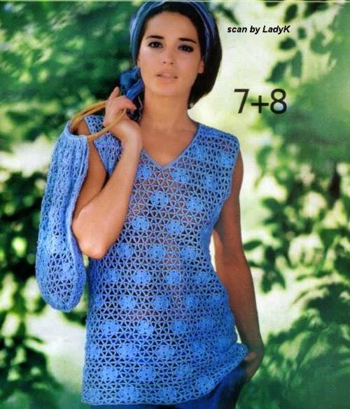 Blusa de Malla a Crochet