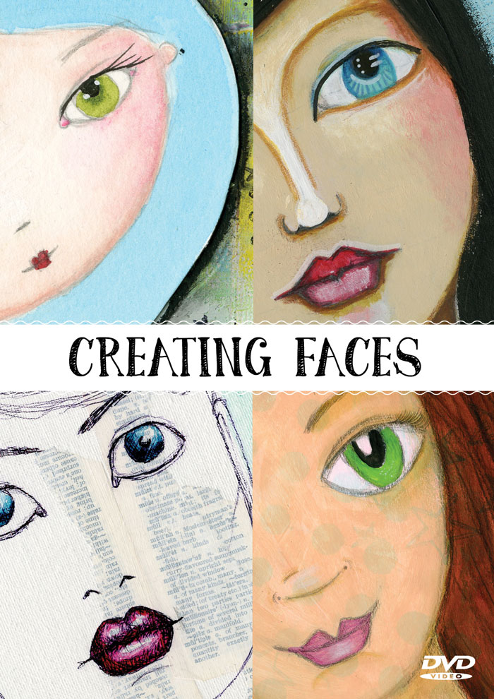 Creating Faces Video showing how to add faces to your mixed media work