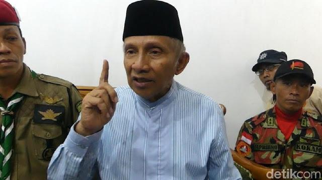 Amien Rais: Otomatis Kalau Kalah Jokowi Pulang ke Solo