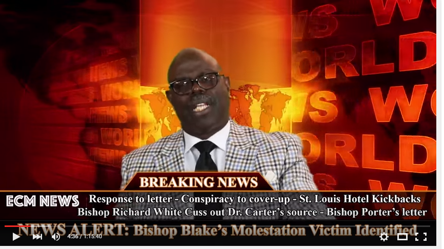 Dr  Earl Carter Latest Video Response To The Letter From COGIC