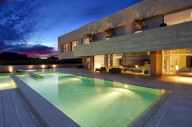 Casas minimalistas y modernas casa moderna en madrid - Casas minimalistas en espana ...