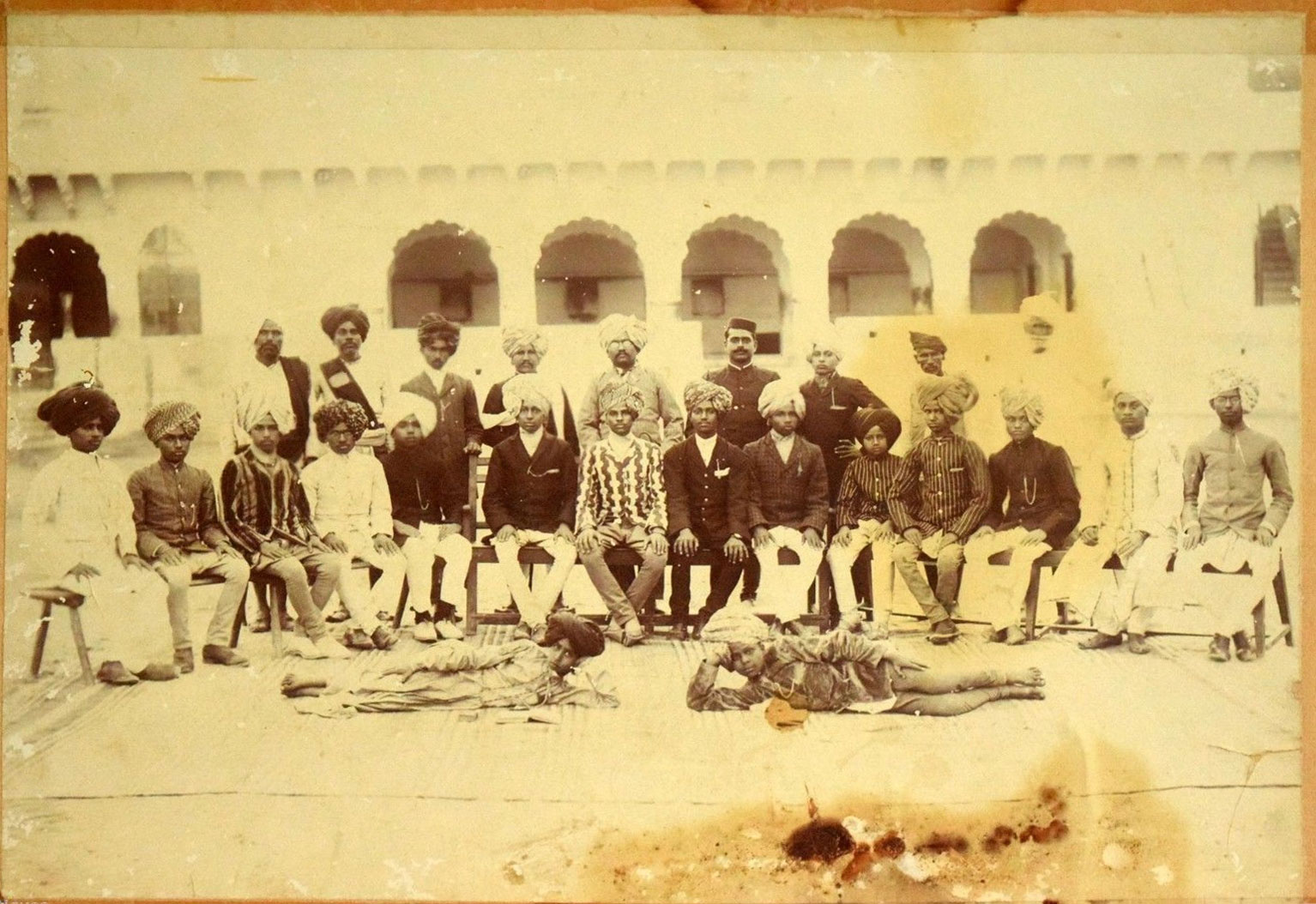 Group Photograph of Indian Men and Children
