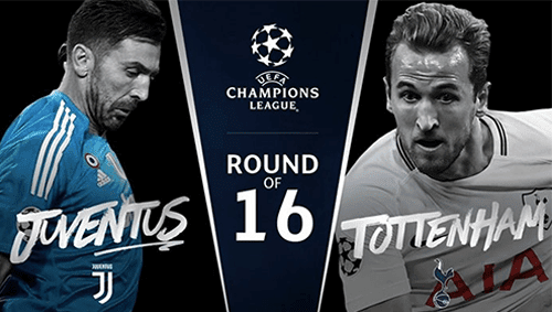 Head to Head Juventus vs Tottenham Hotspur Round of 16 Liga Champions