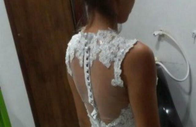 Noiva que teve vestido roubado ganha outro de presente para festa de casamento