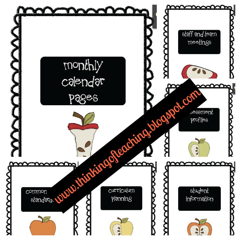 Thinking Of Teaching: Teacher Planning Binder: Information