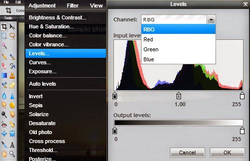 Pixlr Editor Pencahayaan dan Warna Foto