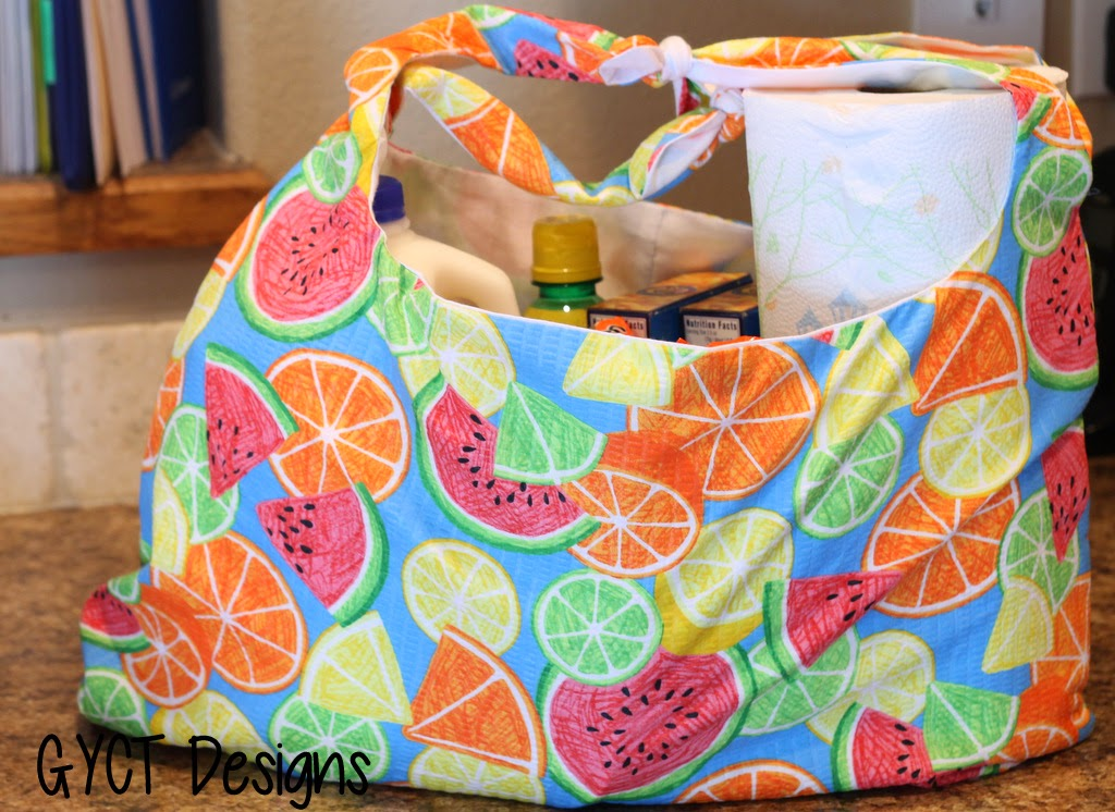 Reusable Grocery Bag PDF Pattern - Free to Download - GYCT Designs