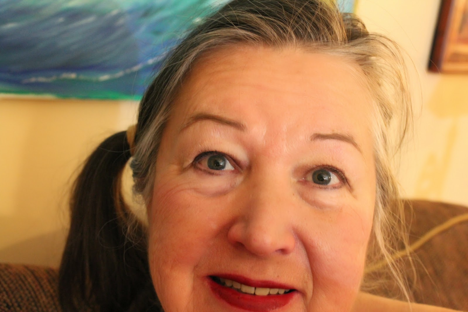 Selfie of Gloria Poole of Missouri and Georgia; 15-March-2014 at my apt in Missouri