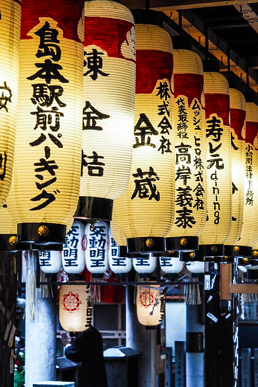 Lanterns at Hozen-ji temple