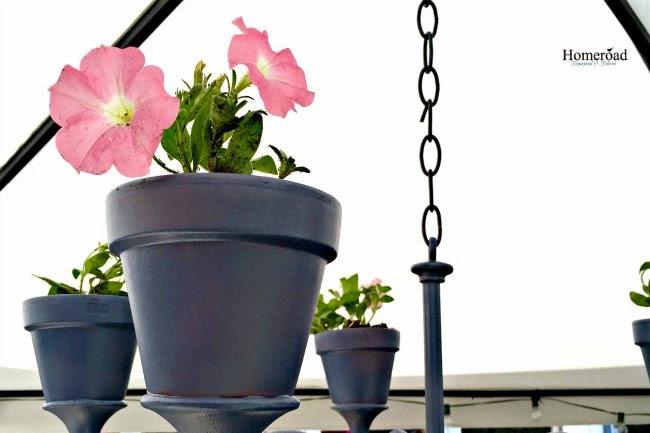 Repurposed Flower Pot Chandelier