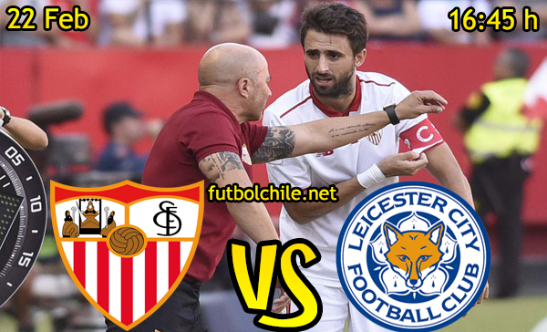 Ver stream hd youtube facebook movil android ios iphone table ipad windows mac linux resultado en vivo, online: Sevilla vs Leicester City