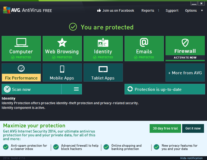 Free Software Downloads: AVG AntiVirus Free 2014
