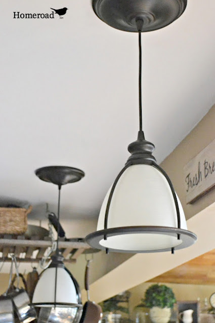 Hanging ceiling lights from pot lights