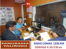 """PANORAMA TAURINO"" EN RADIO COMAS 1300 AM"