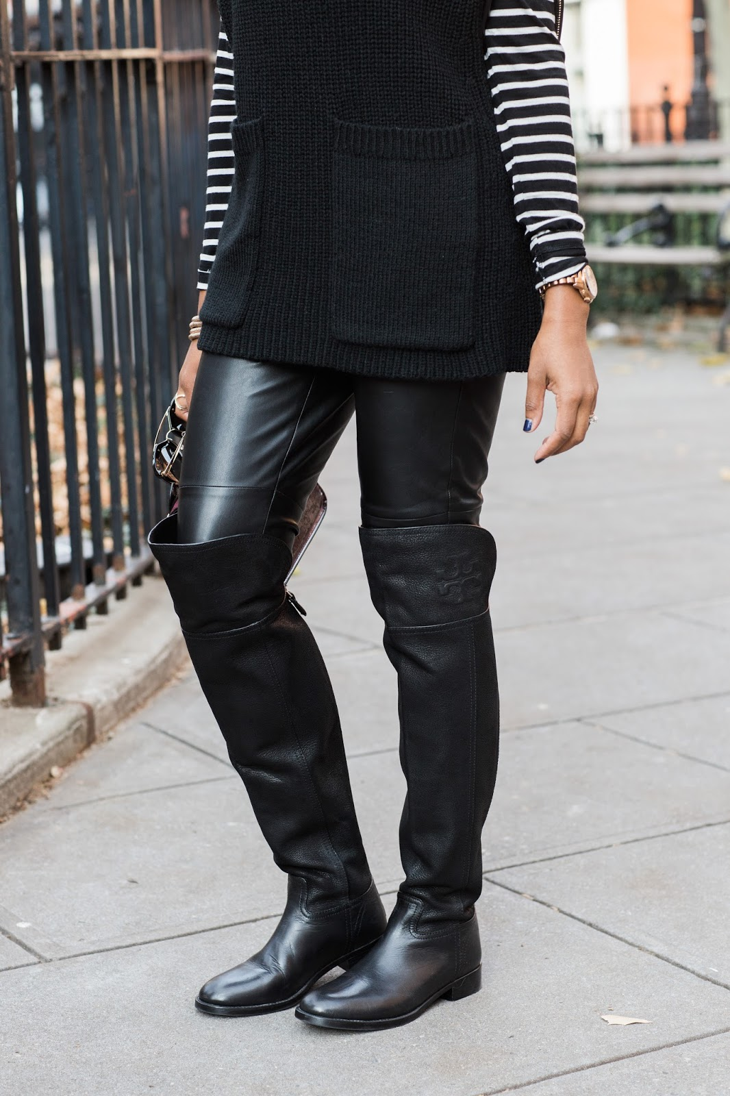 fashion blogger, dallas fashion blogger, new york street style, poncho, cape, how to wear layers, tory burch simone boot, otk boot