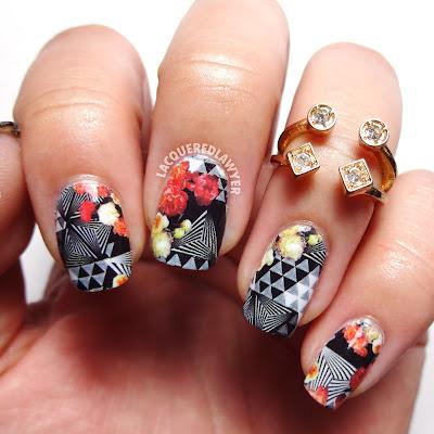Brassy Blossoms Nails