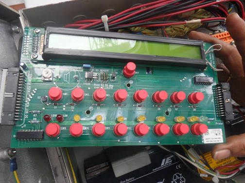 Replacement of two microswitch, namely: accept and reset switches.