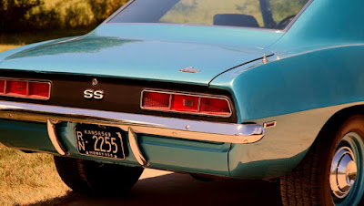 1969 Chevrolet Camaro SS 396 Sport Coupe Tail Light & Emblem
