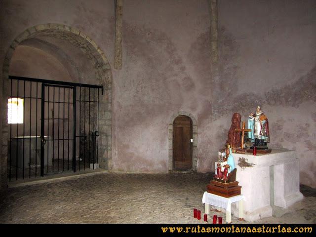 Interior de la Ermita Santiago en el Monsacro