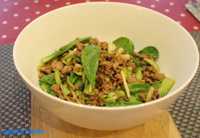 Carole's Chatter: Pork, Bok Choy and Chilli with Sichuan Pepper