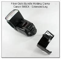 Fiber Optic Bundle Holding Clamp - Extended Leg (Canon 580EX)