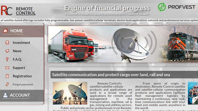 Remote-Control обзор и отзывы вклад 450$