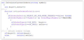 Example MQL4 Code Moving Average EA Check Pending Order