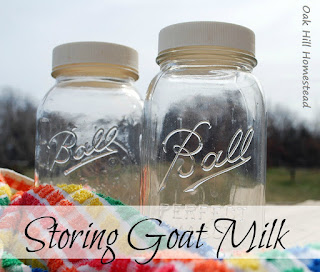 How I store our excess of spring goat milk.