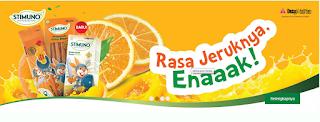 STIMUNO UNTUK BALITA : Suplemen Herbal Bersertifikat Untuk Meningkatkan Imun Tubuh Anak Usia 1 Tahun Ke Atas, Rasa jeruk