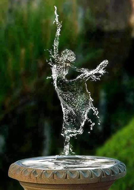 balerin kız su resmi