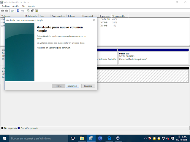 Crear particiones desde Windows