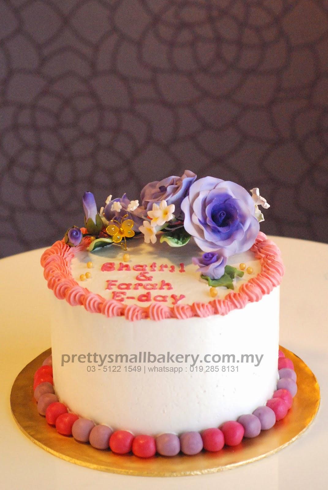Kek Tunang Tema Bunga Floral Yang Cantik Prettysmallbakery