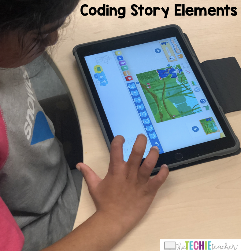 A Kindergartener in Mrs. Racine's Class Coded Her Story Elements Using Scratch Jr.