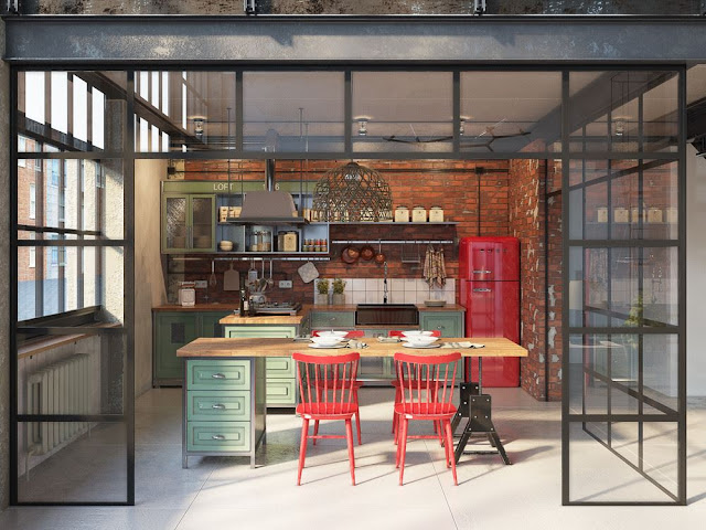 Decordemon industrial style loft in budapest - Loft new yorkais deco ...