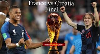 مشاهدة مباراة فرنسا وكرواتيا بث مباشر France v Croatia - Live نهائي كأس العالم اليوم 15-07-2018