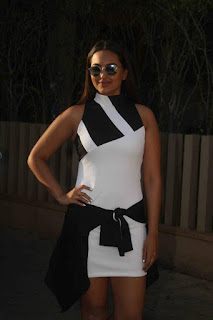 Mumbai Actress Sonakshi Sinha Long Legs Pos In White Top (3)