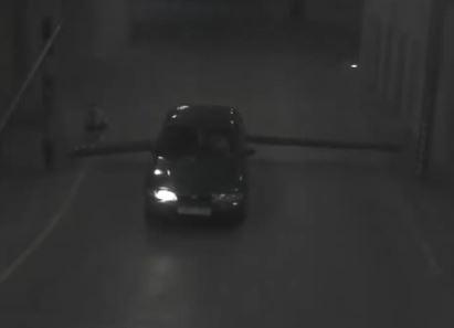 Acidente carro esquisito filmado em vídeo