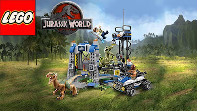 Childrens building brick clipart Dinosaurs LEGO Jurassic Park Jurassic World Raptor Escape Set 75920