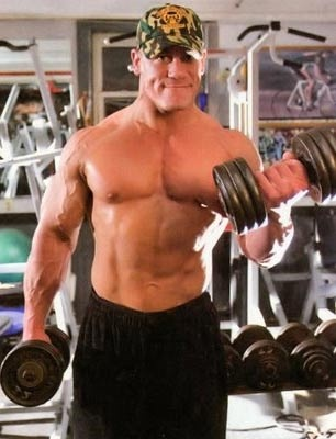 John cena workouts and diet secrets muscle world - John cena gym image ...