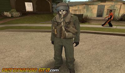 GTA SA - Skin Piloto de Avião Militar