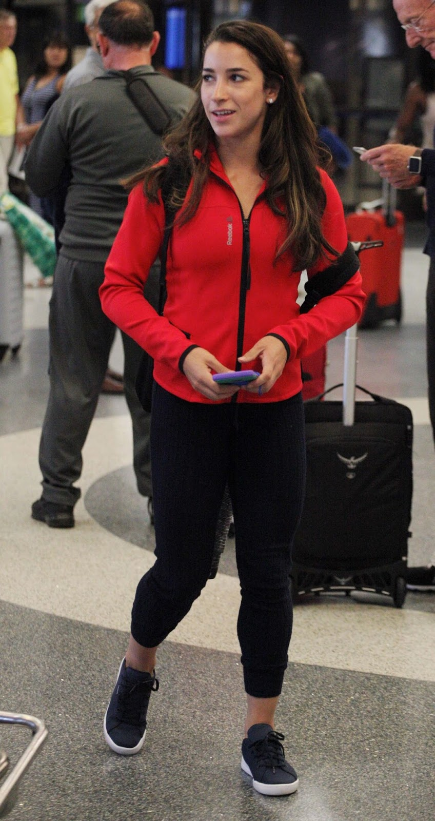 Aly Raisman At Lax Airport In Los Angeles