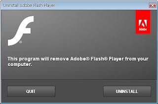 طريقة حذف برنامج اوب فلاش Adobe Flash Player