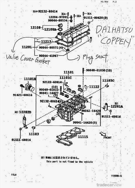 KP Gasket: Daihatsu JB-JL Rocker Cover Grommet