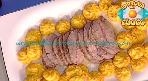 Pommes duchesse con rollè di vitello ricetta Moroni da Prova del Cuoco